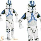 Boys Clone Trooper Star Wars Costume Halloween Fancy Dress Child Outfit