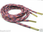 USA American Flag Rope Laces  METAL TIPS  Shoelaces e Jordan MADE IN TAIWAN