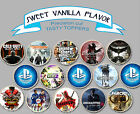 Ps4 Gta Call Of Duty Games Mixed Wafer Birthday Party Cupcake Cake Toppers Cup