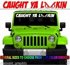 CAUGHT YA LOOKIN DECAL STICKER EVIL EYES YOU LOOKING 4X4 MUD MONSTER WINDSHIELD
