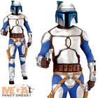 Jango Fett Mens Fancy Dress Star Wars Movie Film Book Adults Costume Outfit New
