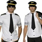 Mens Mile High Airline Captain Pilot Captain Stag Do Adult Fancy Dress Costume