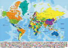 MAPS OF THE WORLD, MAPS OF ENGLAND ETC POSTERS UPTO A1 SIZE,  FRAMES AVAILABLE