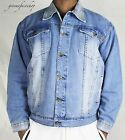 Mens Peviani denim jackets, urban g fitted designer rock star denim, stone wash