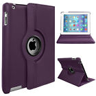 Leather 360 Rotating Smart Case Cover For Apple iPad2/3/4 Air1/2 Mini1/2/3 Lot