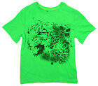 Boys Chainstore Green Leopard Animal Print T-Shirt Top Tee 5 to 14 Years