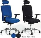 Wave Extra Posture Office Chair | Heavy Duty | Blue or Black Fabric | Headrest