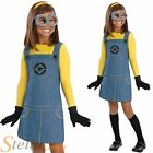 Girls Official Minion Despicable Me Fancy Dress Costume Halloween Child Outfit