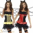 Ladies Reversible Bumble Bee Ladybug Ladies Fancy Dress Costume Adult Outfit