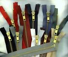 "18"" #5 Brass Jacket YKK Zippers Beige Black White Brown Md Grey Navy Olive"
