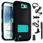 Samsung Galaxy Note 2 Defender Case with Screen Protector +Accessories Kiskstand