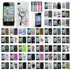 Pattern Snap-On Cover Hard Case Skin For Apple iPhone 4/4s+LCD Protector+Pen