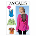 McCalls 7051 Drape Racer Back Gathered Sleeves Blouse Top Sewing Pattern M7051