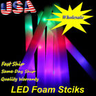 12~300 PCS Light-Up Foam Sticks LED Wands Rally Batons DJ Flashing Glow Stick
