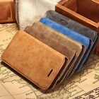 Luxury Suede Leather Wallet Case Stand Cover For Apple iPhone 5 5s 6 6S 6 Plus