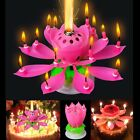 lotus flower pink - Amazing Romantic Musical Lotus Rotating Happy Flower Party Cake Birthday Candle