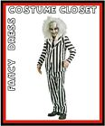 Beetlejuice WITH WIG Halloween TV Movies Hollywood Fancy Dress Costume Licensed