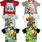 Children's Boys 2 Pack Character 100% Cotton Summer T-Shirts Ages 2-12 Years