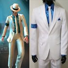 Michael Jackson Smooth Criminal White Suit Uniform Men's Cosplay Concert Costume