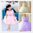 Baby Child Kid Girls Flower Princess Party Chiffon Evening Wedding Dress Clothes