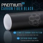 3D Black Carbon Fiber Vinyl Wrap Sticker Film Roll Sheet Bubble Free Air Release $14.15 USD