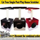 CAT TREE Red Brown Black SCRATCHING POST POLE HOUSE PLATFORM 56x28cm NEW Sale