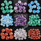 Natural Gemstones Round Cabochon CAB No Drill Hole 16x6mm Jewelry Making MBN207