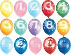 Happy Birthday Balloons - Helium - Assorted Colours - Age