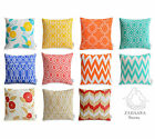 WATERPROOF OUTDOOR Cushion Covers Colourful Floral Geometric Patio Pillow Cases