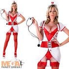 Naughty Nurse Ladies Fancy Dress Sexy Doctor Hen Party Womens Adults Costume New