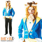 Beast Mens Disney Beauty & The Beast Fancy Dress Fairytale Costume Adult Outfit