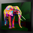 ABSTRACT ELEPHANT CANVAS WALL ART PICTURE PRINT VARIETY OF SIZES FREE UK P&P