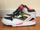 REEBOK PUMP OMNI LITE WHITE BLACK YELLOW PINK MEN SZ 7  * 182136 *