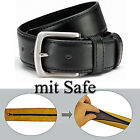 2 Belt with SAFE - can be shortened - 4 cm wide Money leather