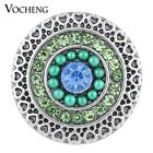 Vocheng Snap Jewelry Heart 18mm 3 Colors Bead Button Vn-1112