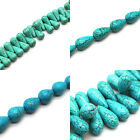 Drop & Briolette Turquoise Howlite Beads - Selection of Sizes