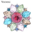 Snap Charms Vocheng 6 Colors Glam Crystal 18mm Blossom Snap Jewelry Vn-1144