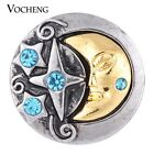 20PCS/Lot Vocheng 18mm Moon Snap 2 Colors Interchangeable Jewelry Vn-1081*20