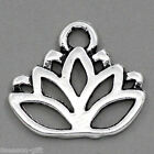 "Gift Wholesale Charm Pendants Lotus Flower Silver Tone 17mmx14mm(5/8""x4/8"")"