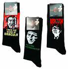 Mens Hammer Horror Pack of 3 Pairs Frankenstein Dracula Socks UK Shoe Size 6-12