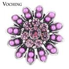 20PCS/Lot Wholesale Vocheng 2 Colors Bead Snap 18mm Blossom Charm Vn-1120*20