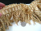 gold 8cm Fringe Tassel Trim Upholstery Curtain lamp trimmings bag costum trims
