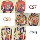 30 Design Tattoo Shirt Mesh Sleeve for Biker Rocker Fancy Punk Cosplay T-shirts