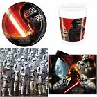 Star Wars VII The Force Awakens - Birthday Party Supplies choose required item