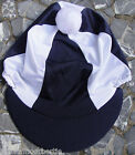 Riding Hat Silk Skull cap Cover NAVY BLUE & WHITE With OR w/o Pompom