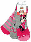 Girls Disney Minnie Mouse Hearts Pack 3 Pairs Socks UK Shoe Size 6 - 6.5
