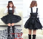 Princess Sweet Dolly Gothic Punk Lolita Party Dress Onepiece+Headdress 81179Blk