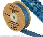 Full Roll Open Weave Jute Ribbon x 10yds - Aqua Blue - Craft Vintage Wedding