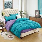 Blue&Purple Single/Queen Size Bed Quilt/Doona/Duvet Cover Set Polyester