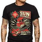 Sun Records Rooster Hop Men's T-Shirt Rockabilly Music Vintage Cash Country